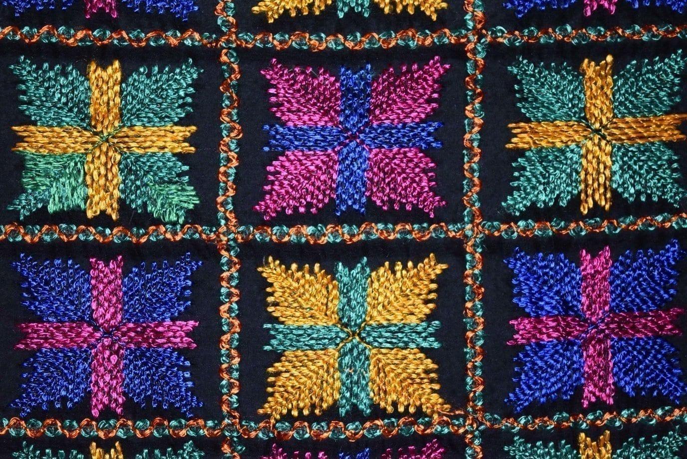 PUNJABI PHULKARI JAAL M/C Embroidered Partywear Faux Chiffon Dupatta D0823 3