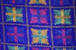 PUNJABI PHULKARI JAAL M/C Embroidered Partywear Faux Chiffon Dupatta D0837