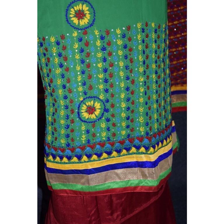 Party Wear Georgette hand Embroidered Salwar kameez stole suit set F0648