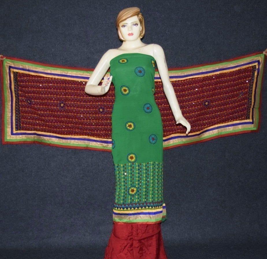 Party Wear Georgette hand Embroidered Salwar kameez stole suit set F0648 4