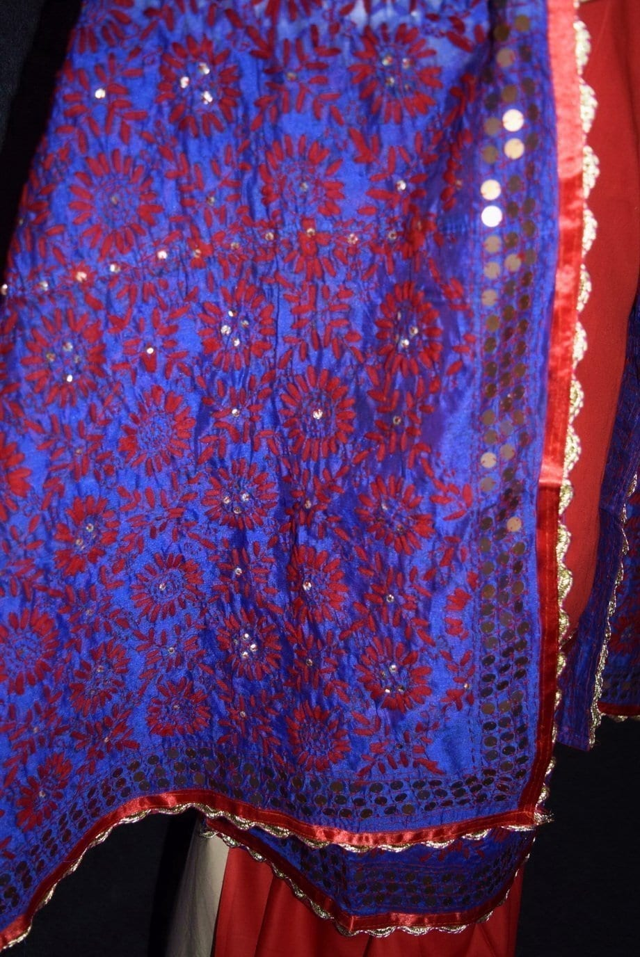 Pure Cotton Hand Embroidered Salwar kameez stole suit set F0655 2