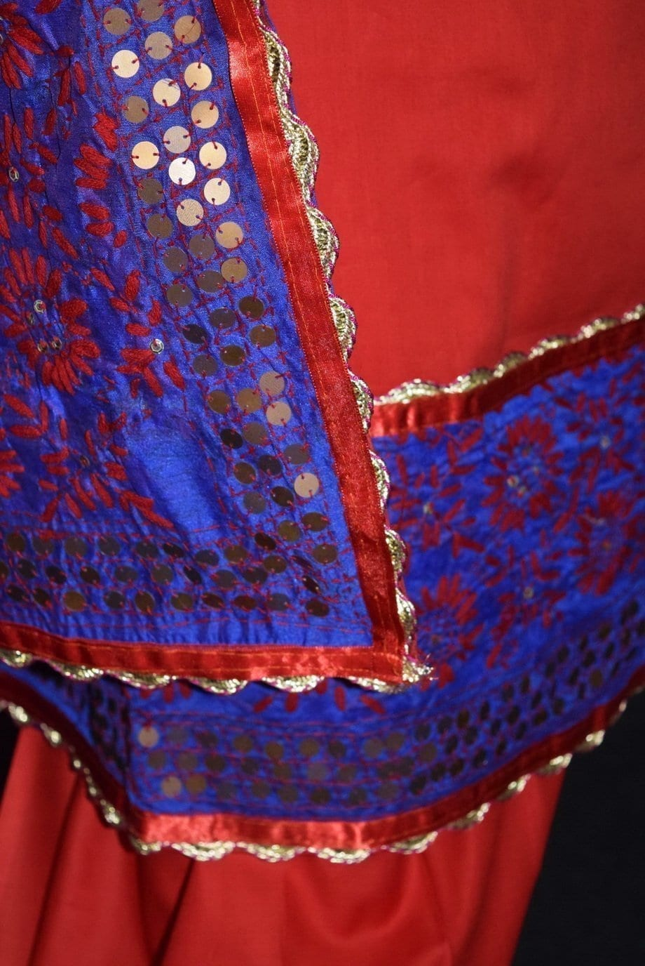 Pure Cotton Hand Embroidered Salwar kameez stole suit set F0655 4