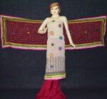 Party Wear Georgette hand Embroidered Salwar kameez stole suit set F0657