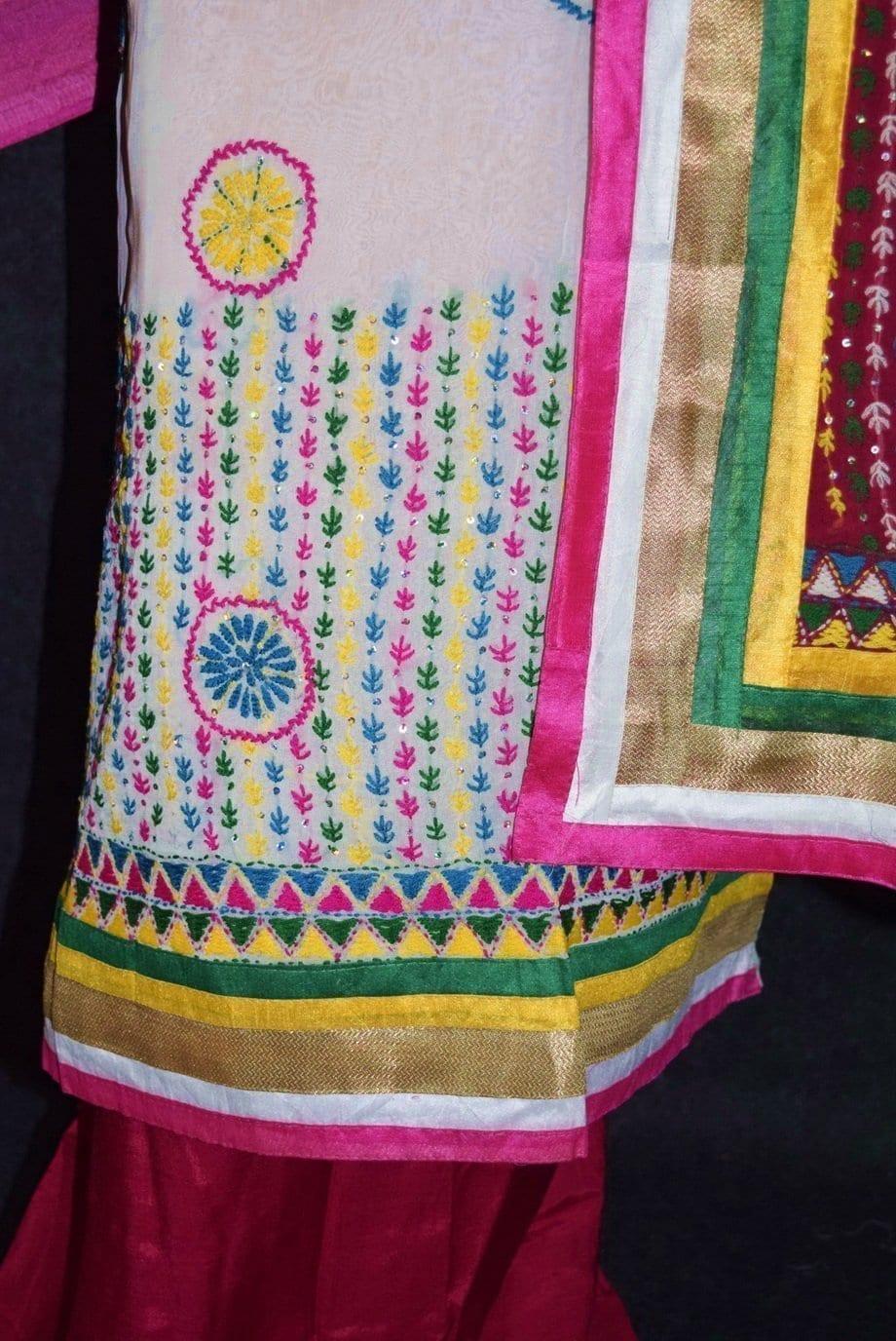Party Wear Georgette hand Embroidered Salwar kameez stole suit set F0657 4