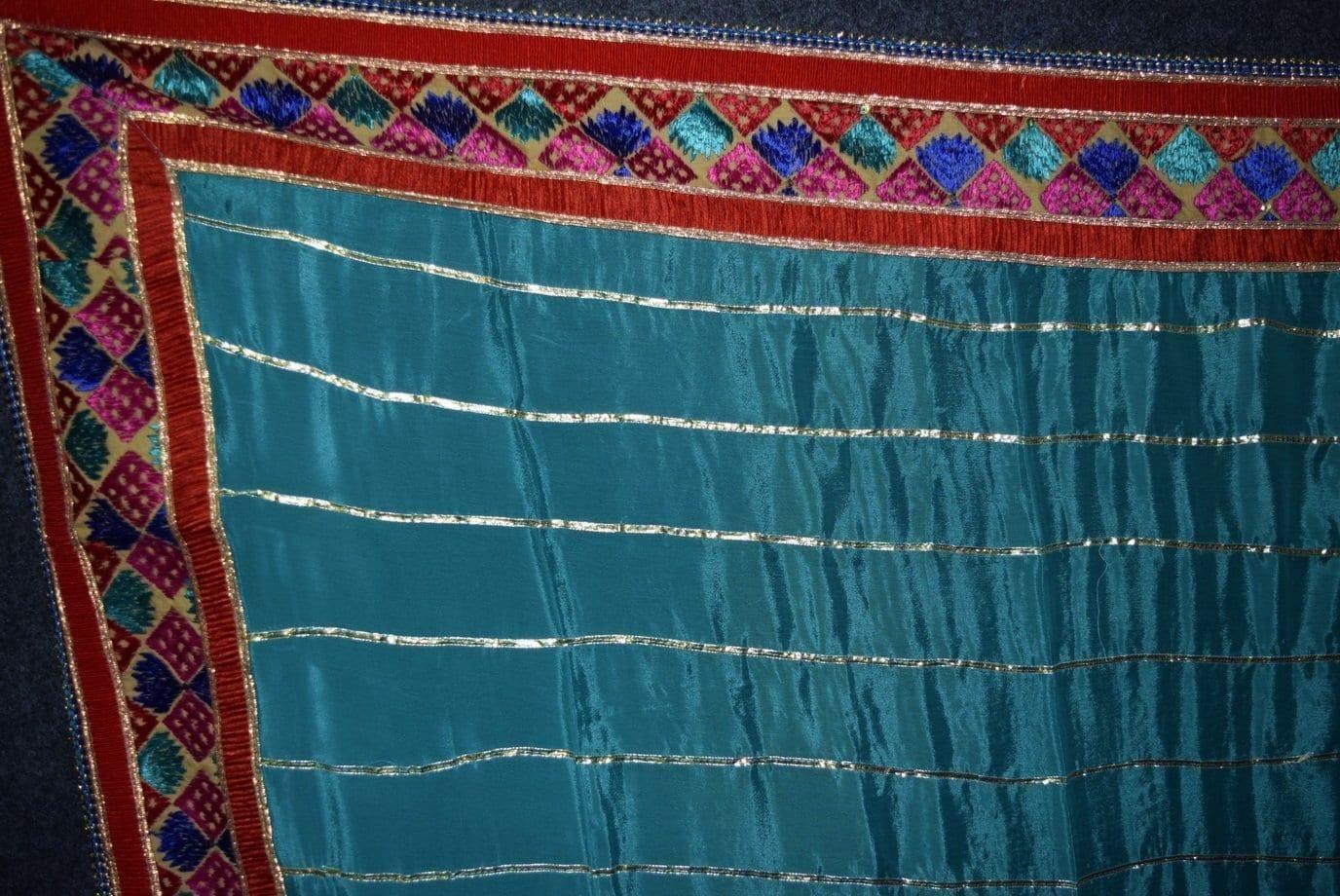 Glazed Cotton Hand Embroidered Salwar kameez suit CHINON DUPATTA set F0658 2