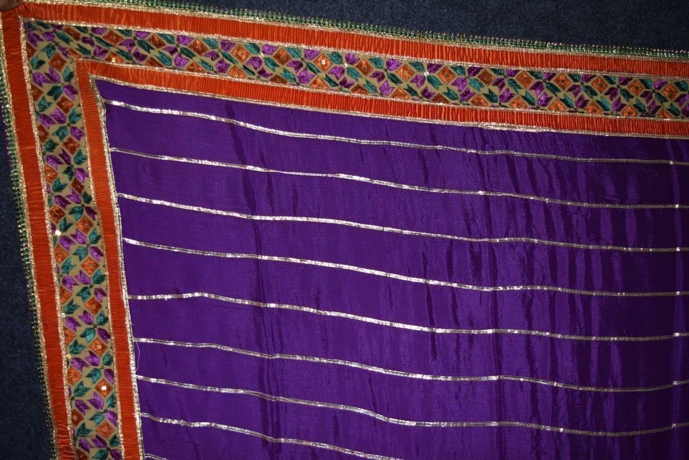 Glazed Cotton Hand Embroidered Salwar kameez suit CHINON DUPATTA set F0659 2