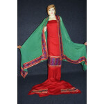 Glazed Cotton Hand Embroidered Salwar kameez suit CHINON DUPATTA set F0661