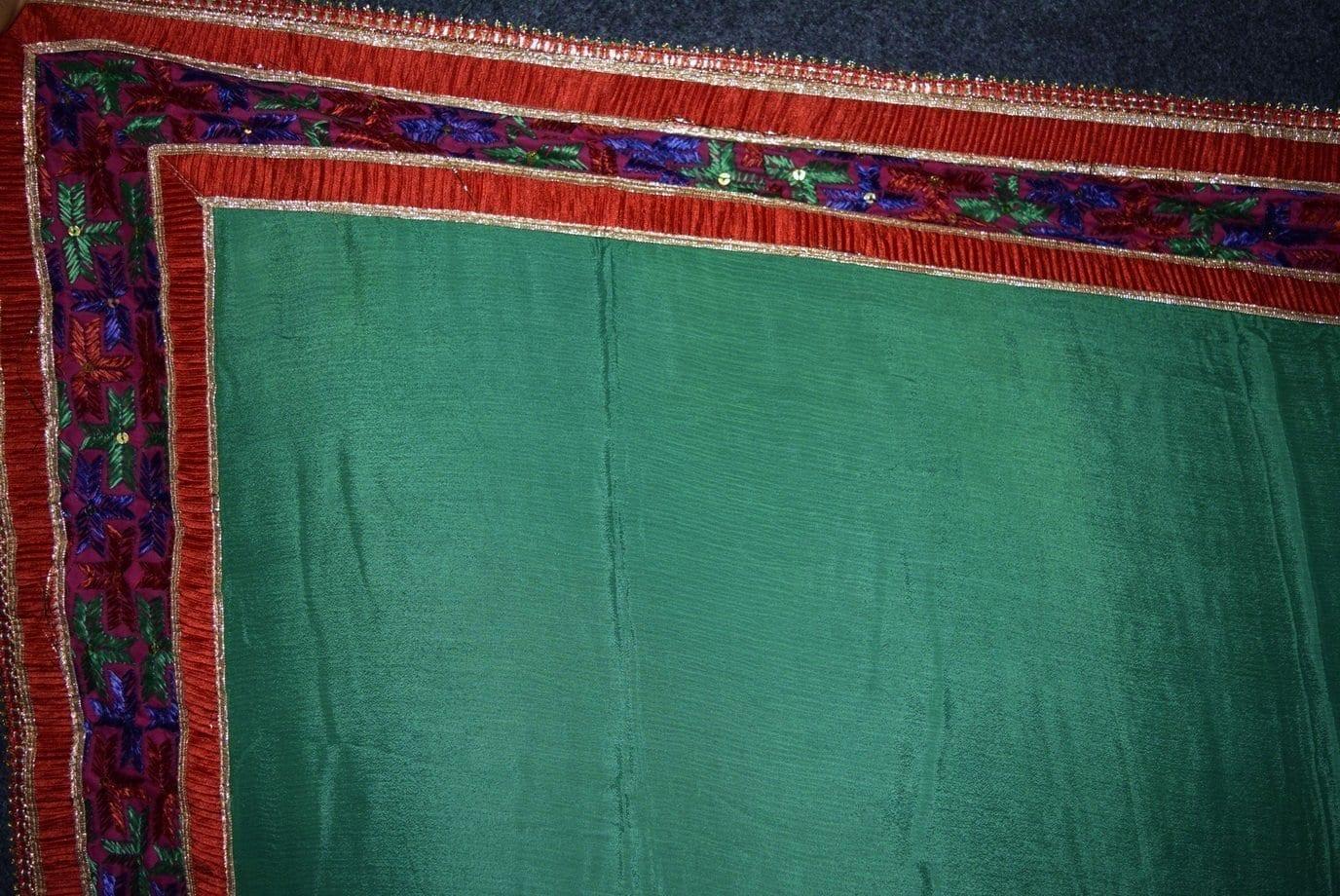 Glazed Cotton Hand Embroidered Salwar kameez suit CHINON DUPATTA set F0661 3