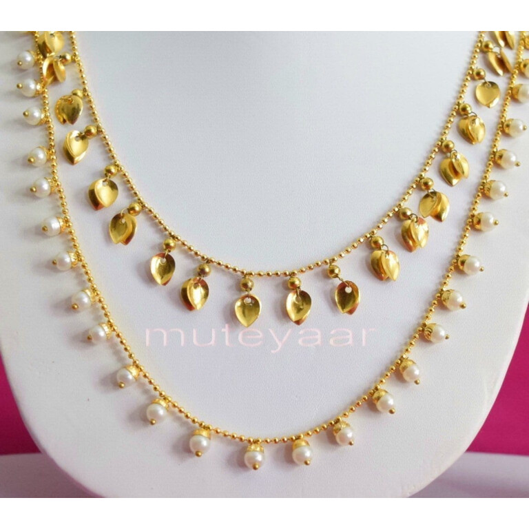 24 Ct. Gold Plated Traditional Punjabi Double Chain Earrings jewellery set J0208