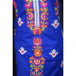 Pure Cotton Unstitched Embroidered Party Wear Kurti / kameez Fabric Cloth K0347