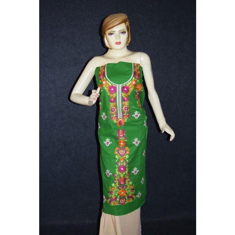 Green Pure Cotton Kurti K0348