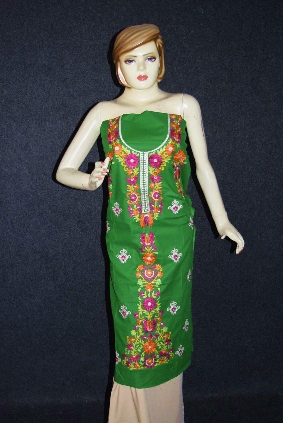 Green Pure Cotton Kurti K0348 1