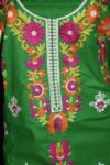 Pure Cotton Unstitched Embroidered Party Wear Kurti / kameez Fabric Cloth K0348