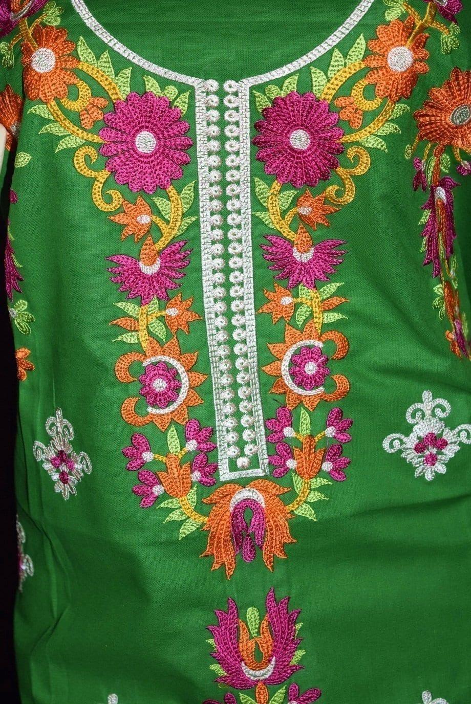 Green Pure Cotton Kurti K0348 3
