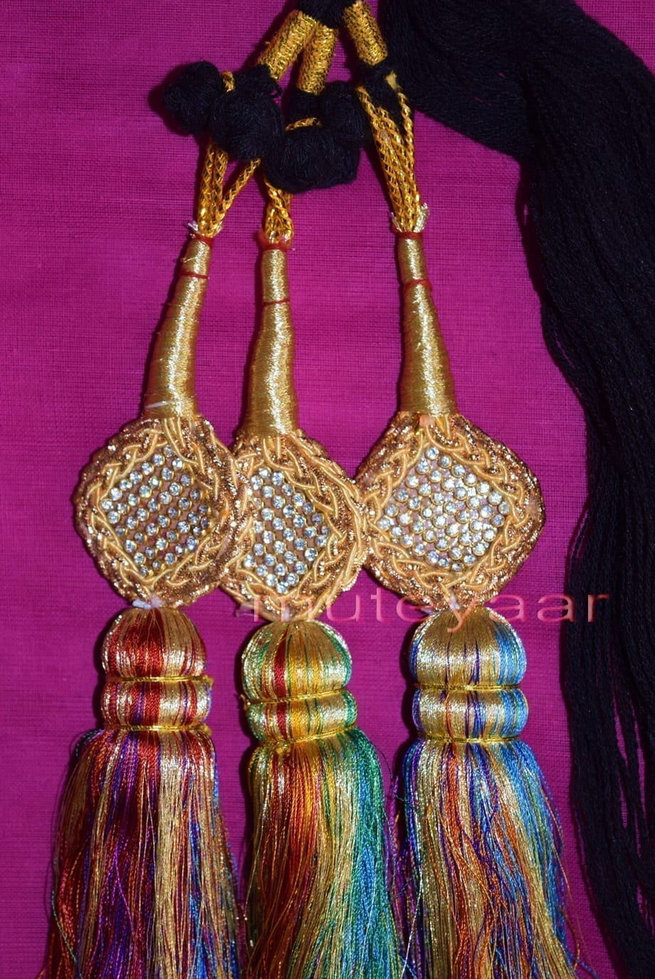 Traditional Punjabi Ethnic Colorful Paranda parandi with Zircons embelishment 2