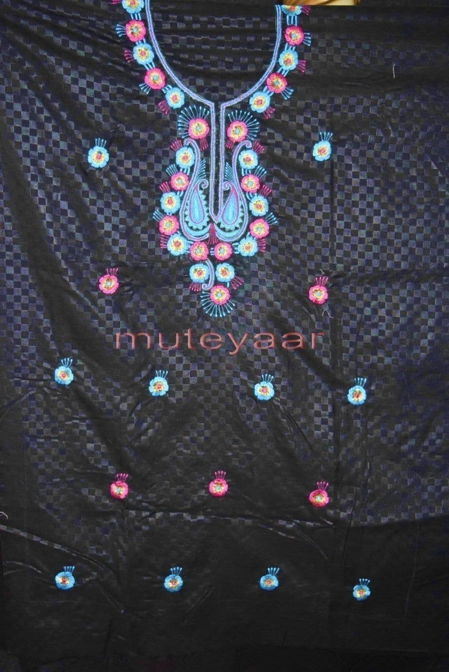 Designer Embroidery 100% cotton Salwar Suit PURE CHIFFON Dupatta RM310 4