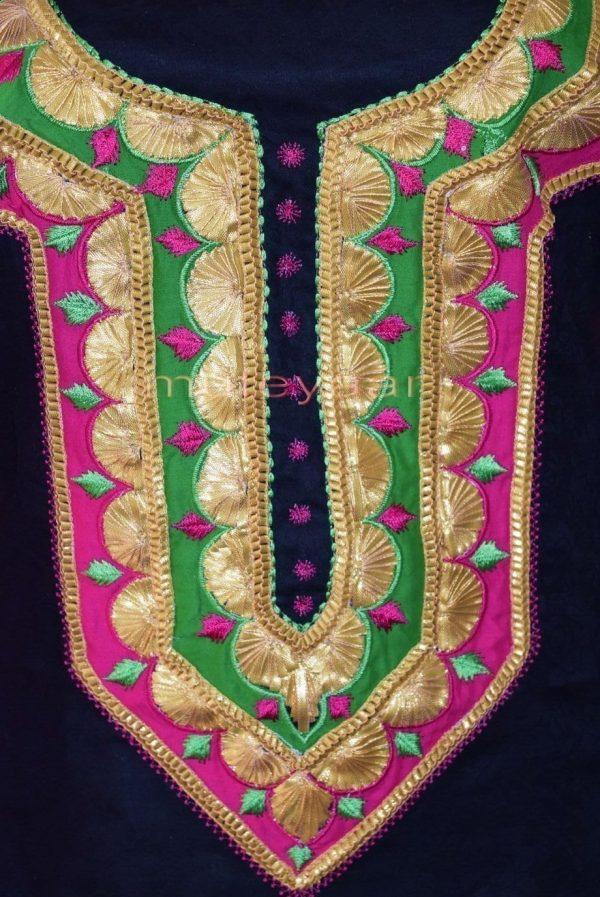 Designer Cotton Salwar Kameez Embroidered Boutique Suit CHIFFON Dupatta RM312