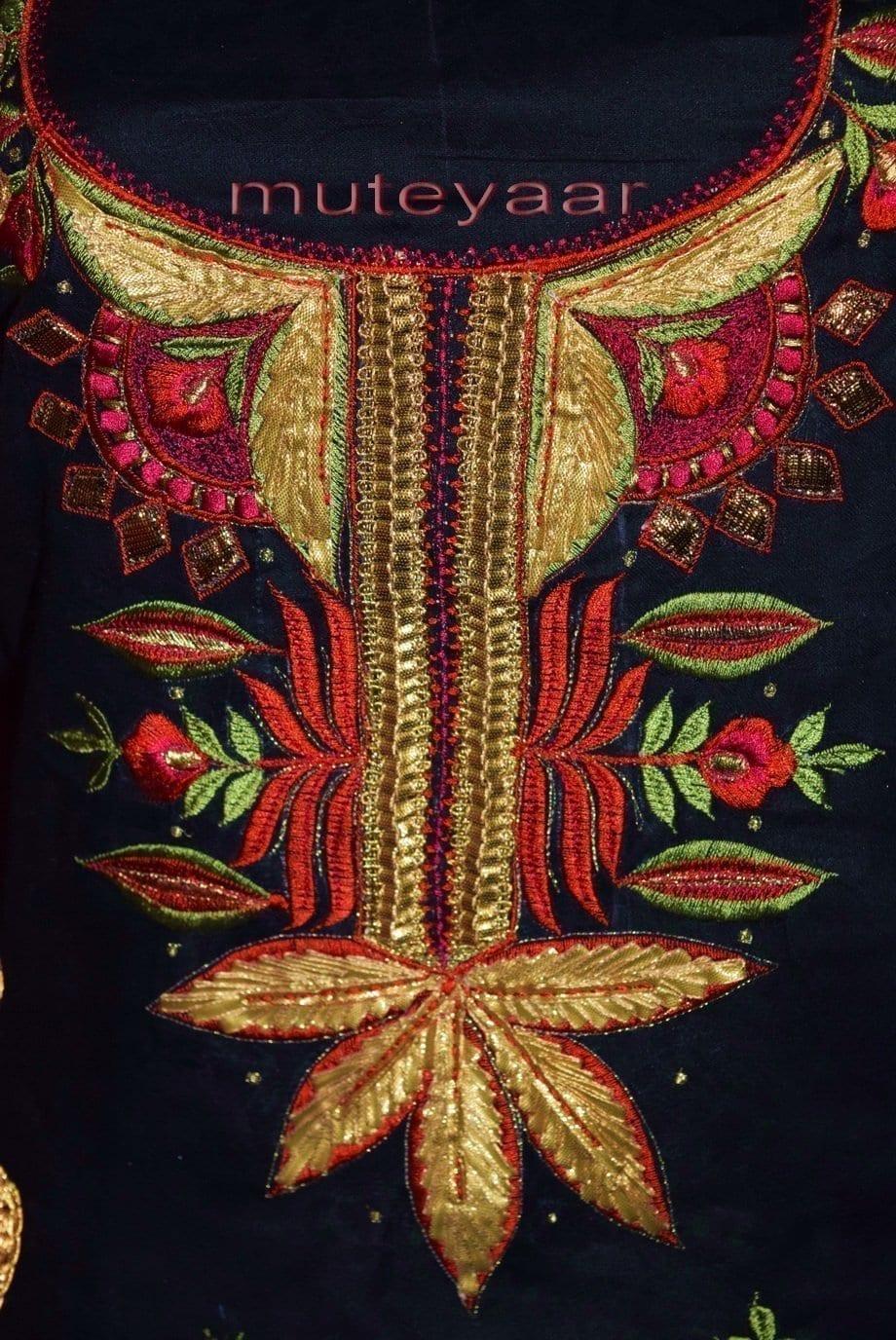 Designer Gota Patti Embroidery Boutique Suit Cotton Salwar Kameez CHIFFON Dupatta RM313 4