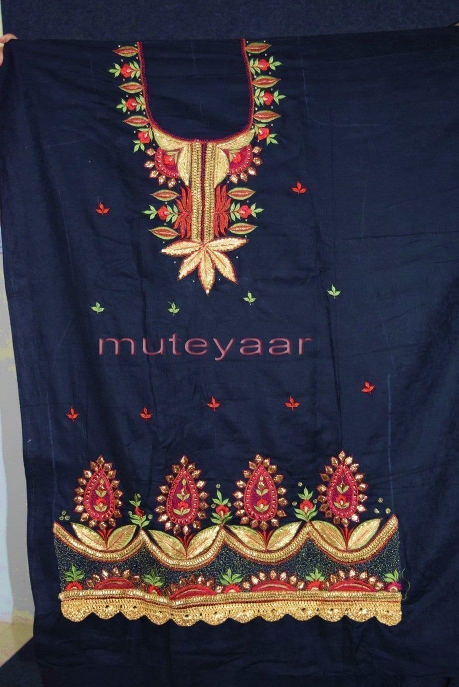 Designer Gota Patti Embroidery Boutique Suit Cotton Salwar Kameez CHIFFON Dupatta RM313 5