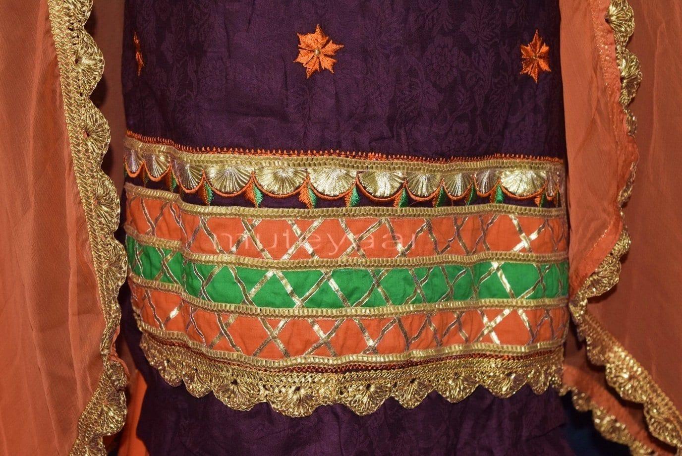 Designer Embroidery 100% cotton Salwar Suit CHIFFON Dupatta RM314 3
