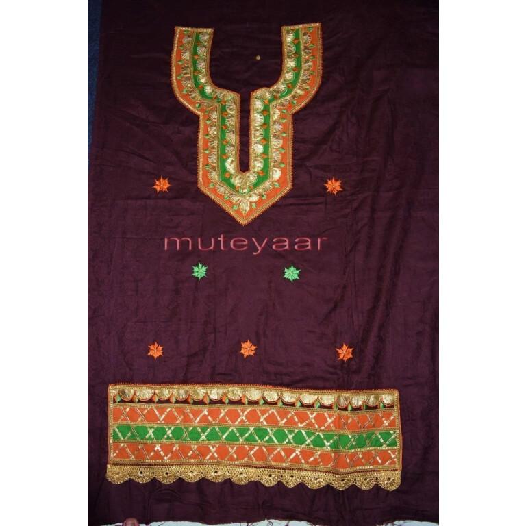 Designer Embroidery 100% cotton Salwar Suit CHIFFON Dupatta RM314