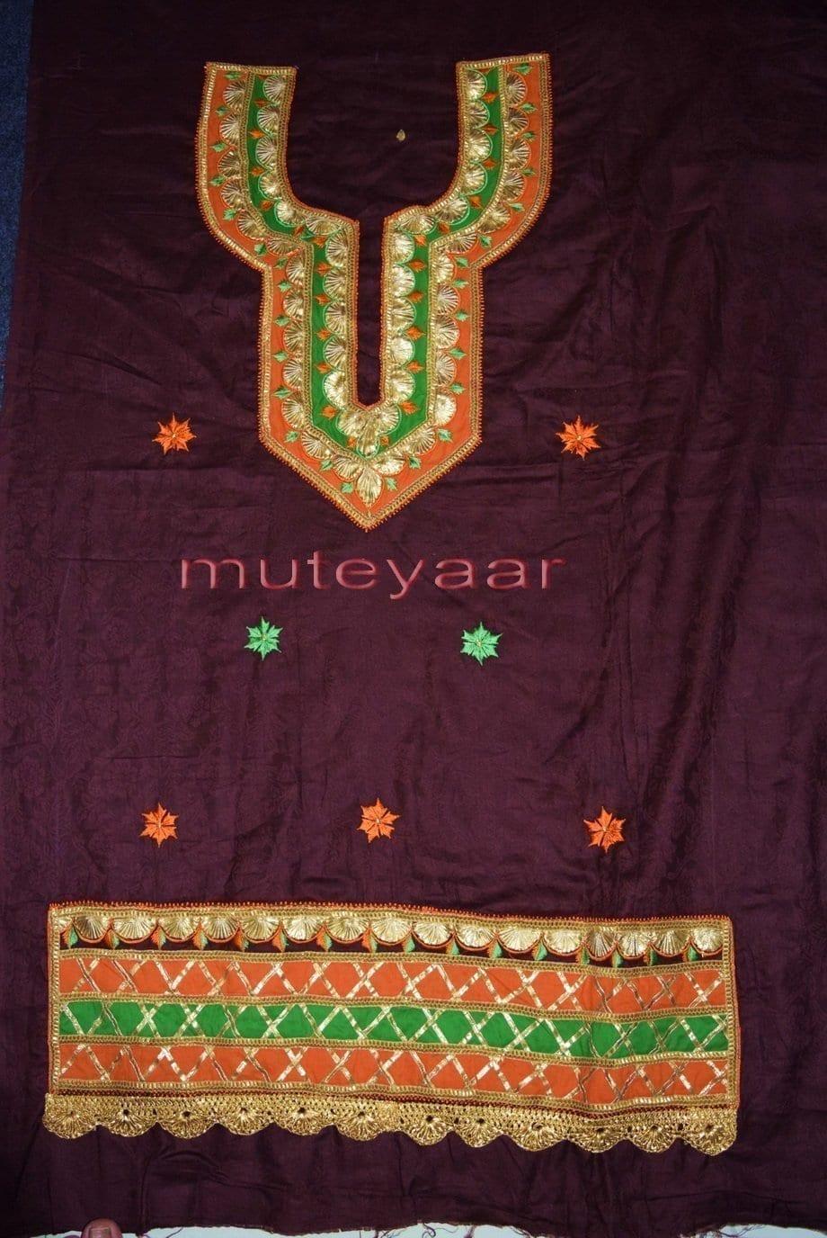 Designer Embroidery 100% cotton Salwar Suit CHIFFON Dupatta RM314 4