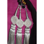 Traditional Punjabi Ethnic SILVER Paranda parandi with Zircons embelishment