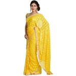 Yellow Phulkari Saree S6