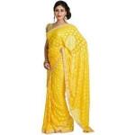 Yellow Phulkari Saree S6