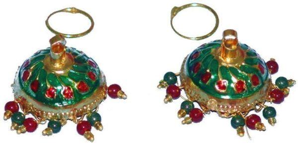 Gold Plated Meenakari work Lotan Dangles Jhumka set J0106