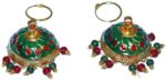 Gold Plated Meenakari work Lotan Dangles Jhumka set J0106