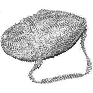 Silver Champa Gota Samosa Lace Kinari Border LC083