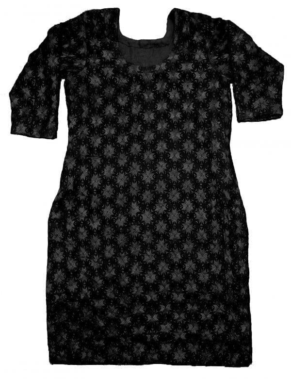 Phulkari embroidered Custom Stitched Chiffon kurti - All Colours/Sizes Available