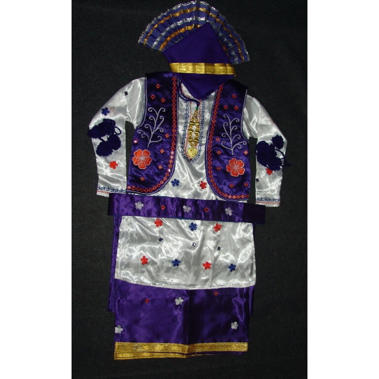 Colorful Bhangra dance Costume / outfit dress for Boys - ready to wear