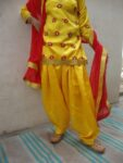 Embroided custom made Girl's Bhangra Costume outfit dance dress