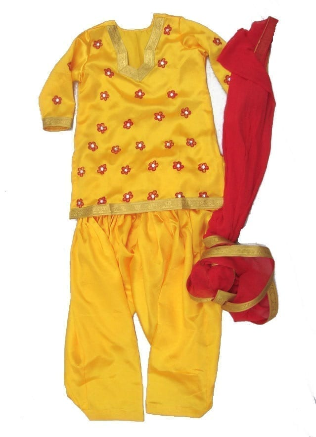 Embroidered custom made Girl's Bhangra Costume outfit dance dress 2