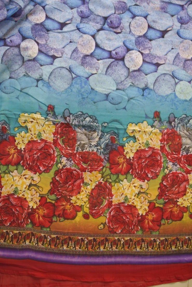GEORGETTE PRINTED fabric for Kurti, Saree, Salwar, Dupatta GF044 1