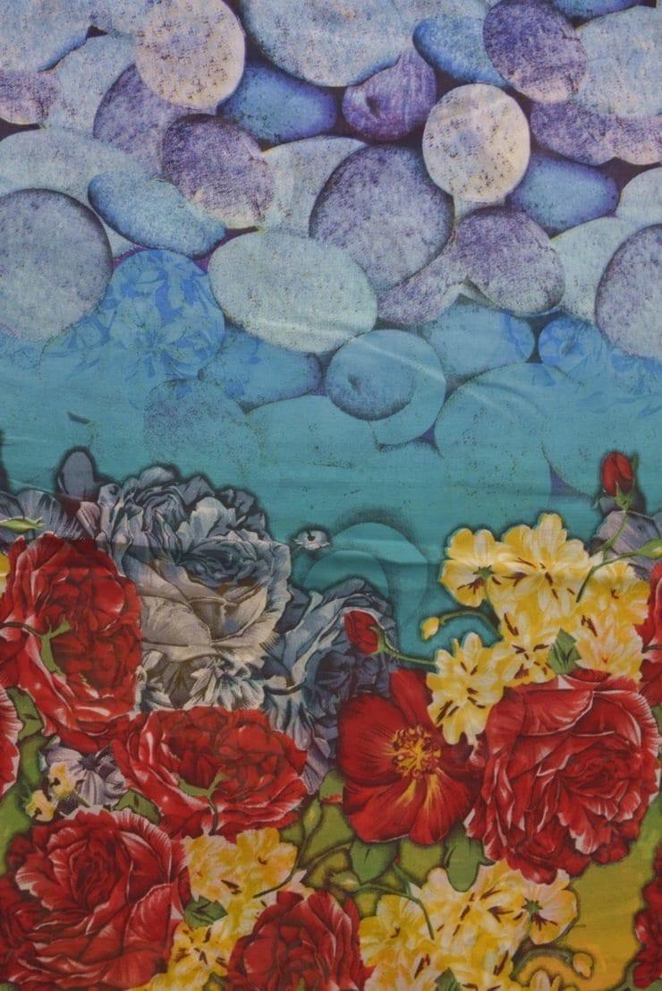 GEORGETTE PRINTED fabric for Kurti, Saree, Salwar, Dupatta GF044 2