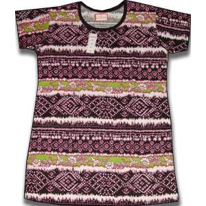 Pure Cotton Soft Hosiery Fabric Night Wear Kurti TOP NS073