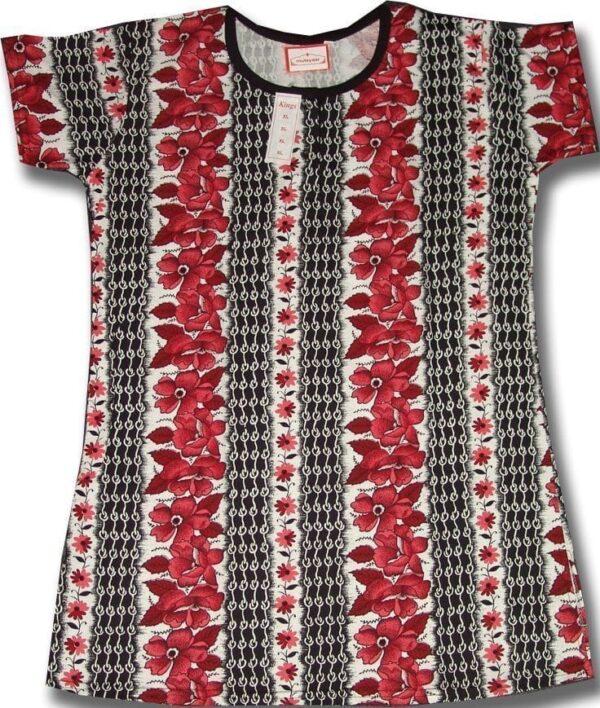 Pure Cotton Soft Hosiery Fabric Night Wear Kurti TOP NS074