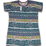 Pure Cotton Soft Hosiery Fabric Night Wear Kurti TOP NS076