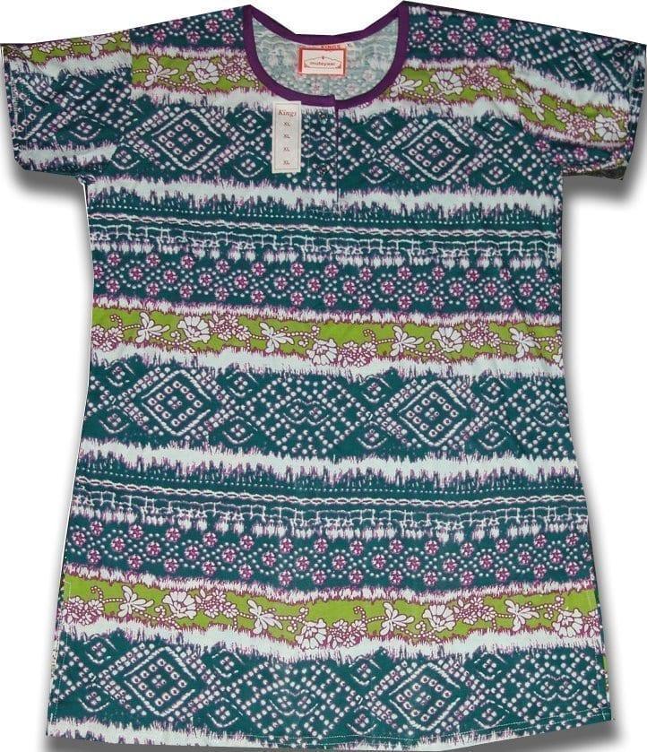 Pure Cotton Soft Hosiery Fabric Night Wear Kurti TOP NS076 1
