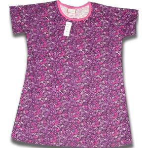 Pure Cotton Soft Hosiery Fabric Night Wear Kurti TOP NS078
