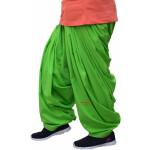 100% Pure Cotton Parrot Green Patiala Shalwar