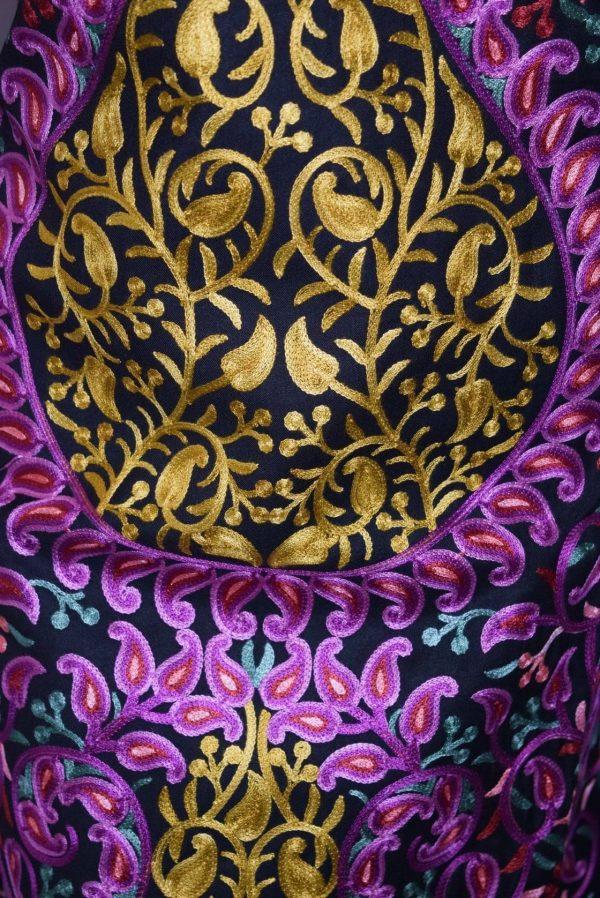 Thread Embr Kashmiri Semi Pashmina Salwar Suit Fabric C0614