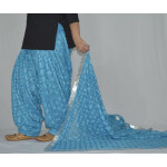 Firozi Turquoise PHULKARI Embroidered Patiala Salwar with matching Dupatta PHS25