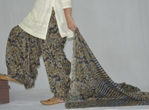 100% Pure Cotton FULL Patiala Salwar + matching cotton printed dupatta PSD172