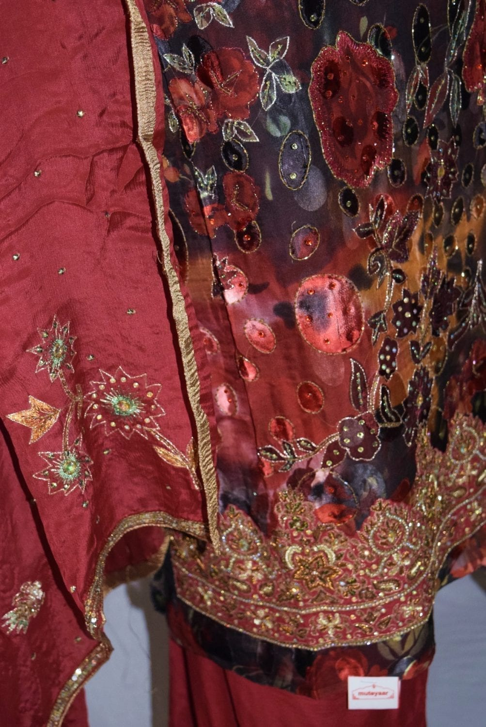 PURE BROCHIER/PURE CREPE/PURE CHINON hand embroidered Suit H0018 3