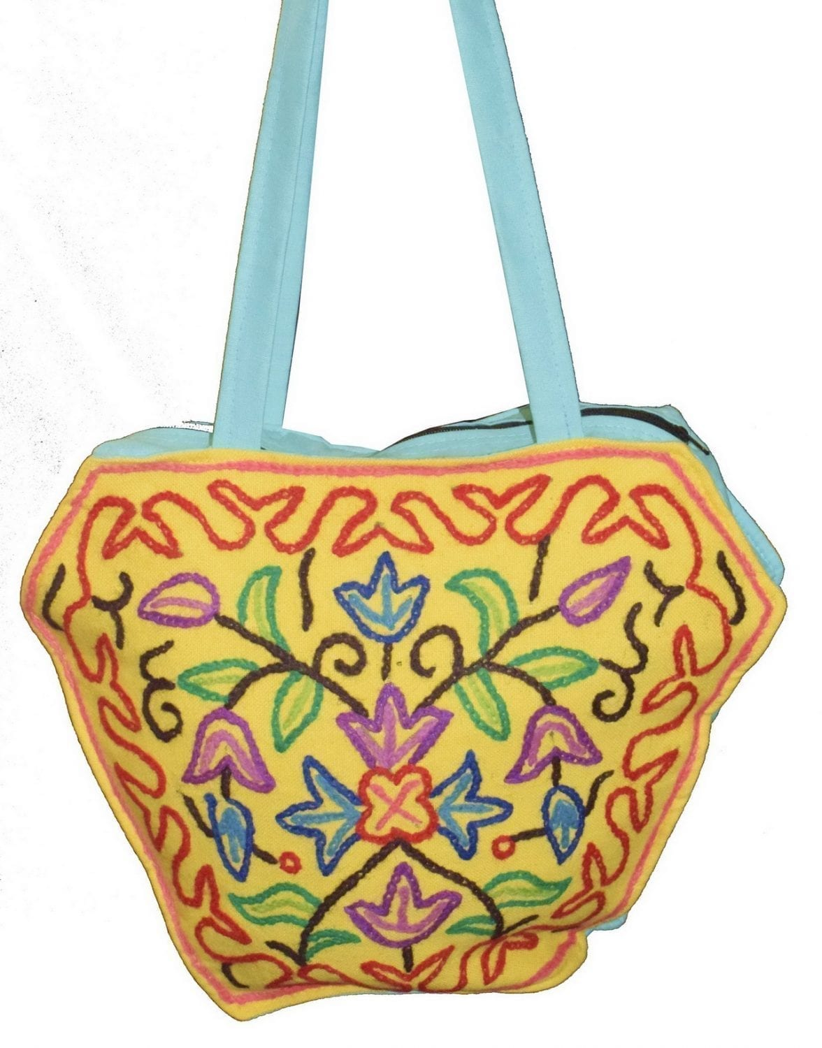 Kashmiri Hand made embroidered Office / College / Shopping Bag HB111 2