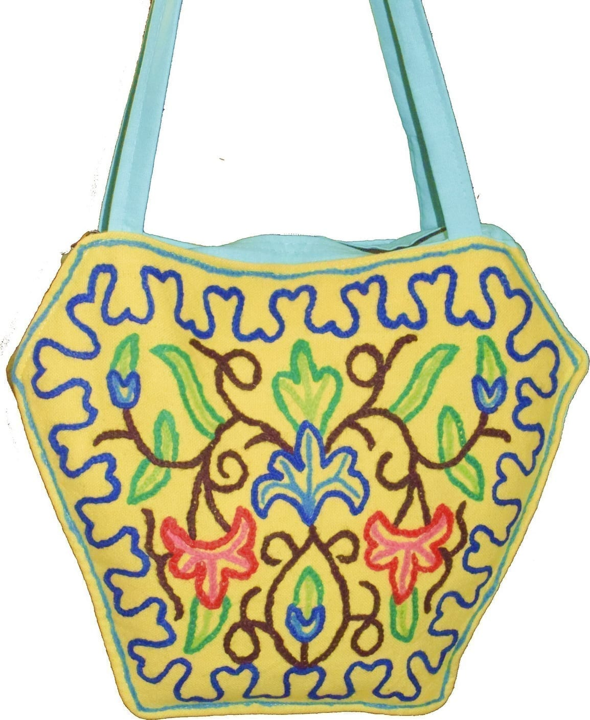 Kashmiri Hand made embroidered Office / College / Shopping Bag HB112 2